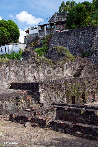Remains of an 18th century theater in this old capital of Saint-Pierre, Martinique.