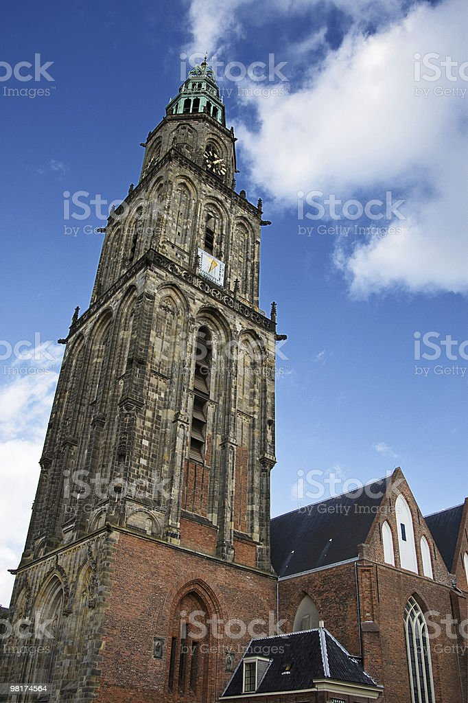 Martinitoren, Groningen, Netherlands royalty-free stock photo