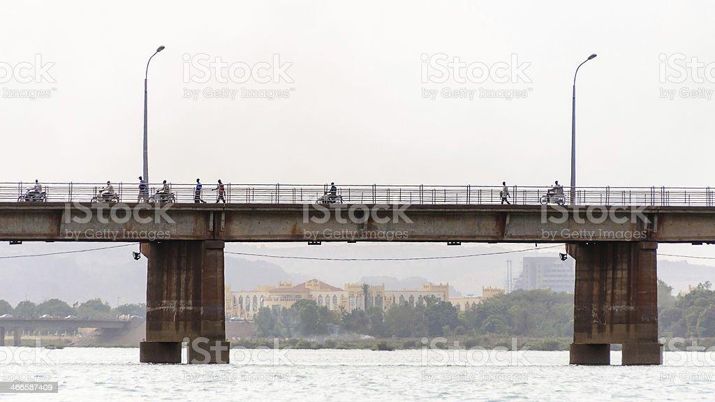 Martyrs Bridge (Pont des martyrs) in Bamako stock photo