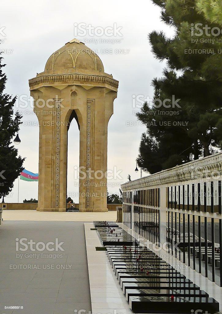 Martyrs Lane in Baku, Azerbaijan stock photo