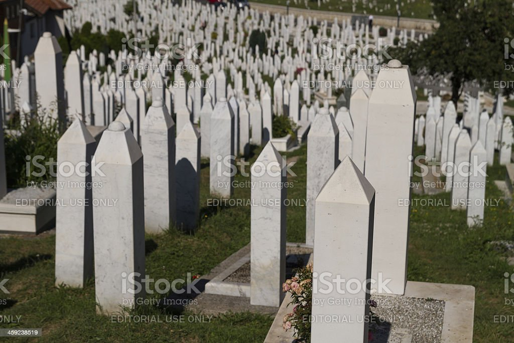 Martyr's Memorial Cemetery Kovaci In Sarajevo royalty-free stock photo