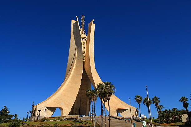 mémorial du martyr à alger, algérie - algeria stock photos and pictures