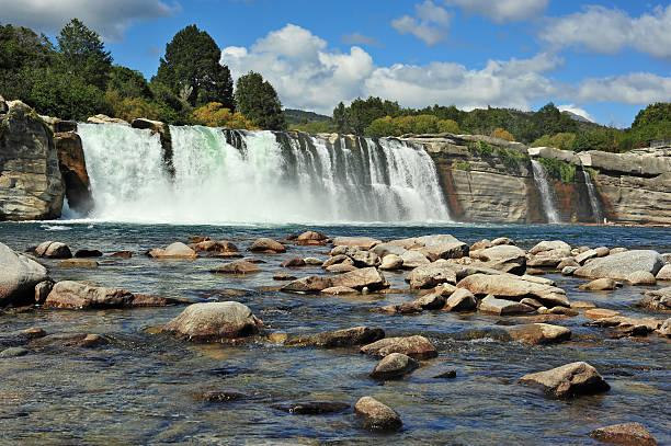 Maruia Waterfalls stock photo