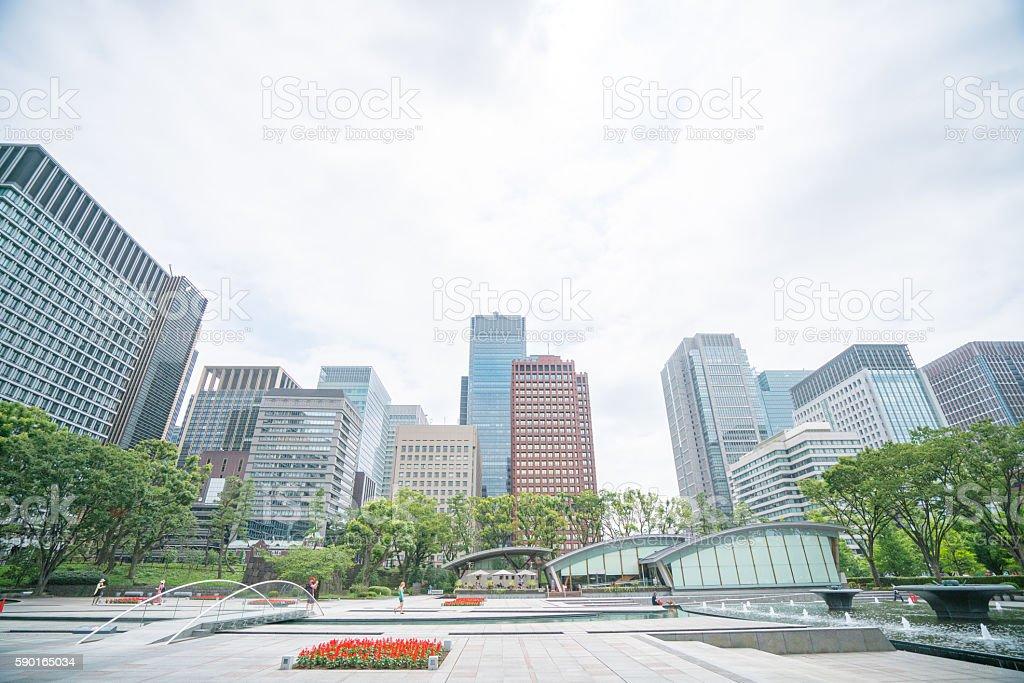 Marunouchi area buildings,tokyo,japan stock photo