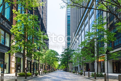 istock Marunouchi office street in early summer 1209835473