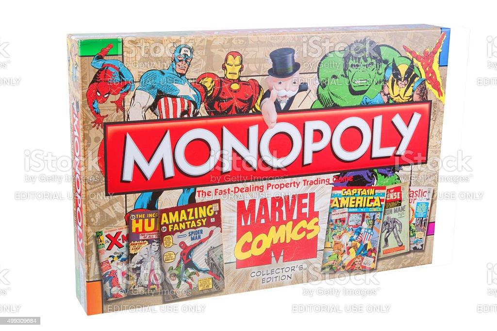 Marvel Comics Monopoly stock photo