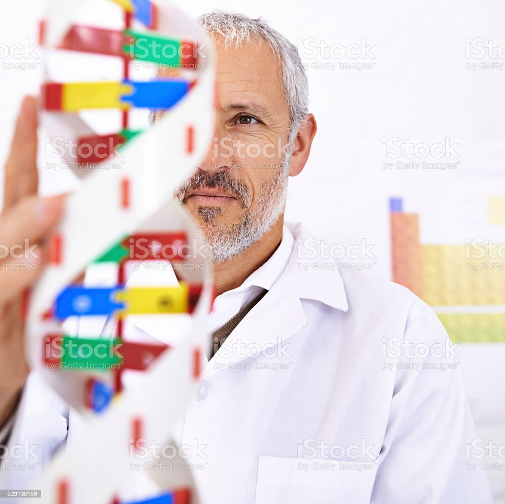 Marveling at the progress of human science stock photo