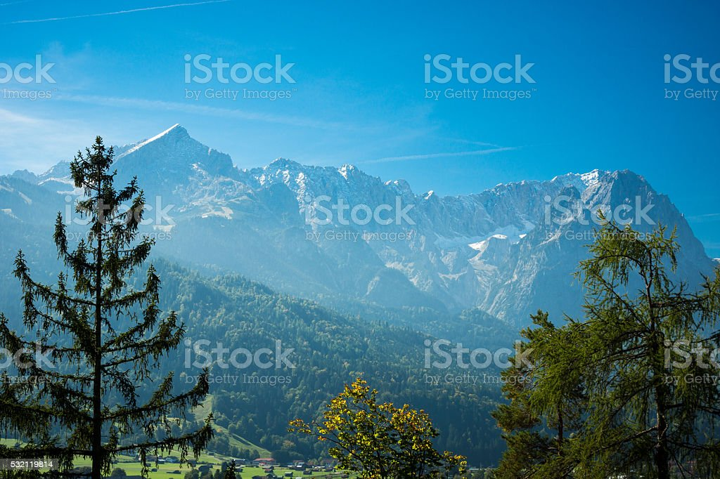 Marvelous View At Garmisch on the Alps stock photo