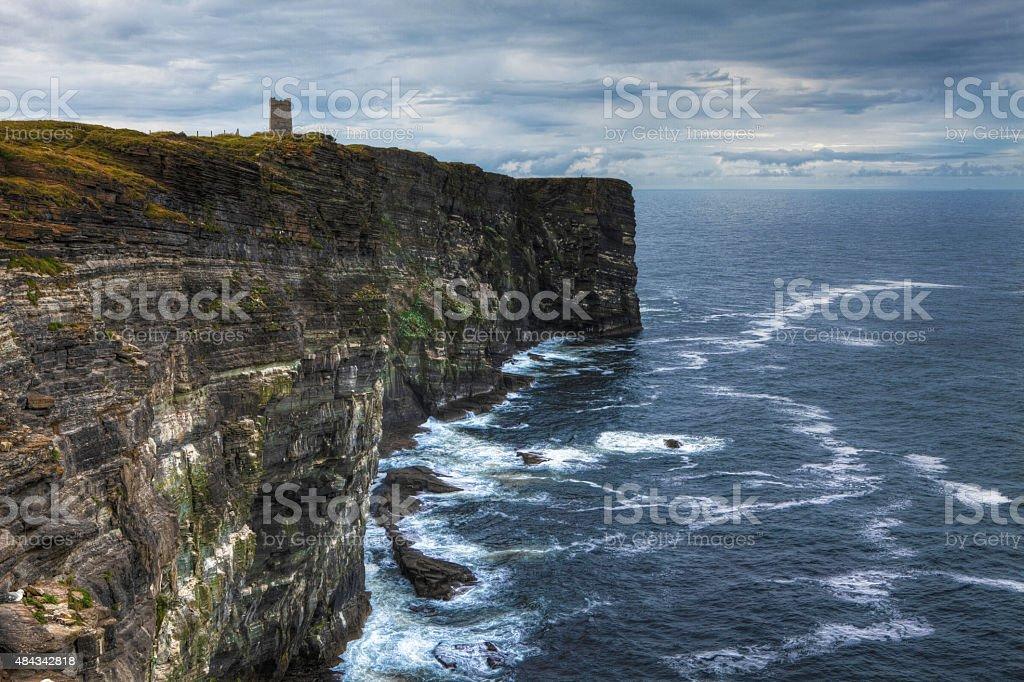 Marwick Head in Orkney, Scotland stock photo