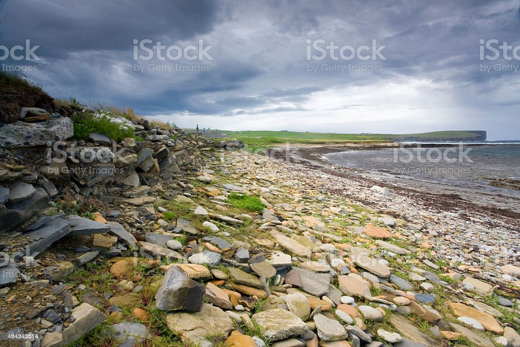 Marwick Head, Orkney, Scotland stock photo