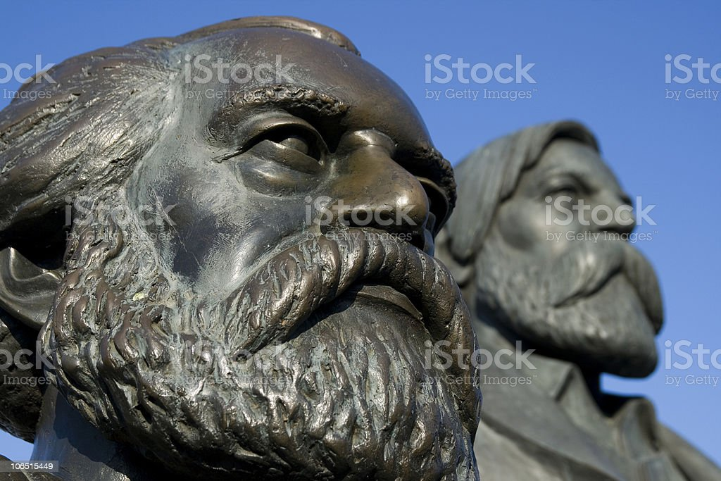Marx and Engels stock photo