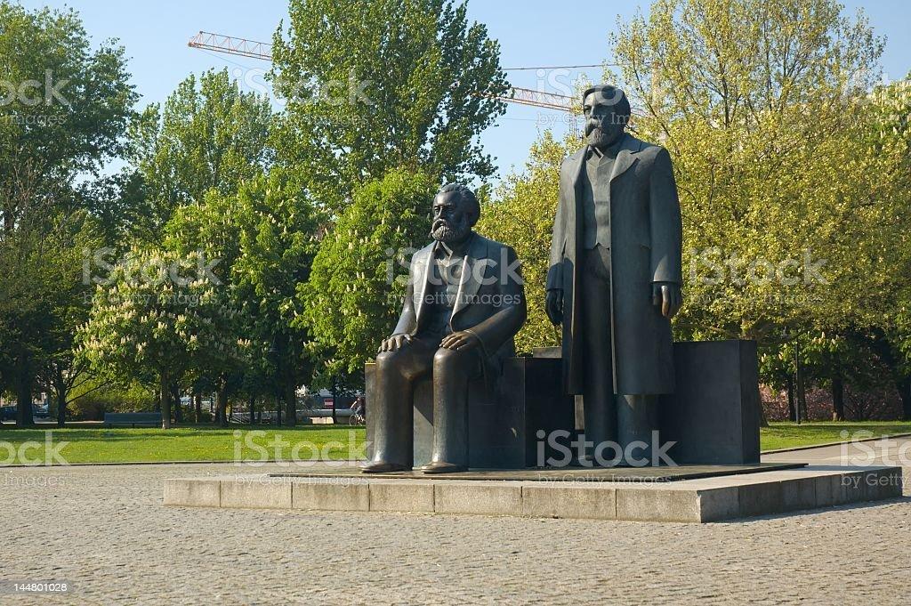 Marx & Engels stock photo