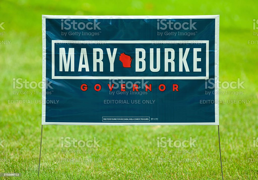 Mary Burke for Wisconsin Governor stock photo