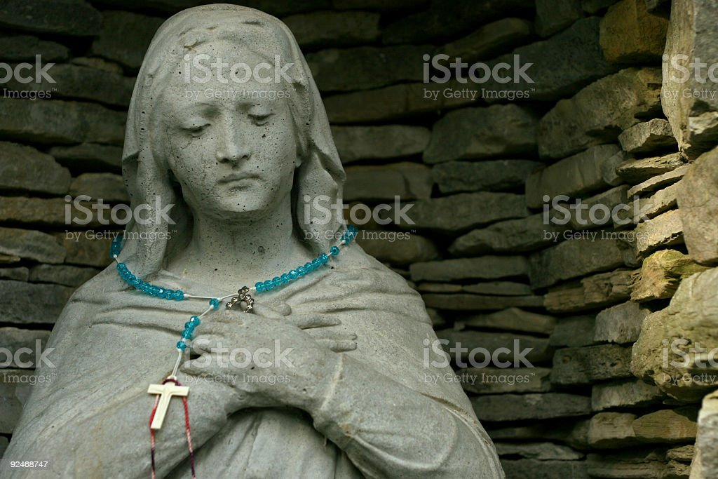 Mary in Gray royalty-free stock photo