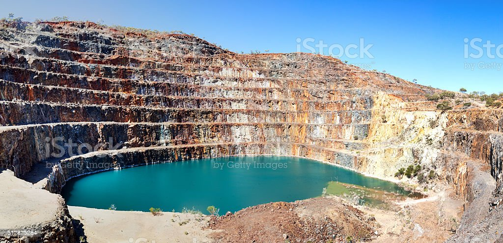 Mary Kathleen mine near Mount Isa stock photo