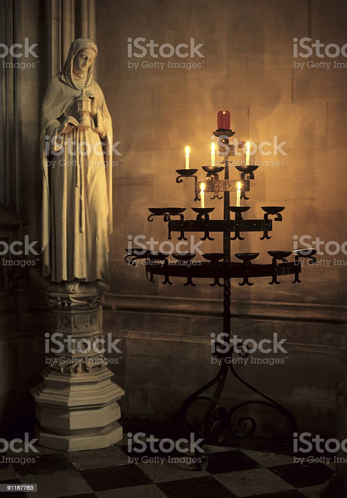 Mary Magdalen Statue Oxford University royalty-free stock photo