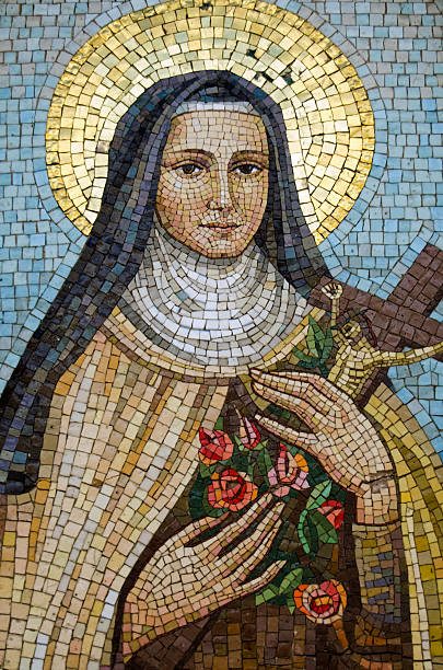 Mary Mosaic, Venice View of a glass mosaic of the Virgin Mary on an exterior wall overlooking the Grand Canal, Venice. religious saint stock pictures, royalty-free photos & images