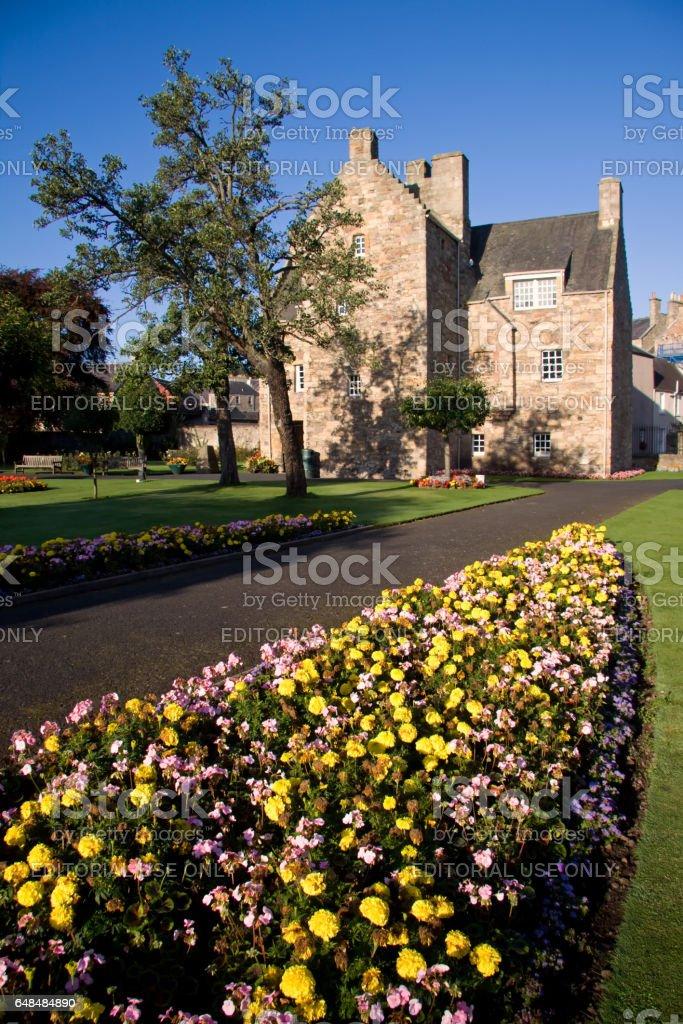 Jedburgh, Roxburghshire, Scottish Borders, Scotland - September 15, 2009: Mary Queen of Scots House stock photo
