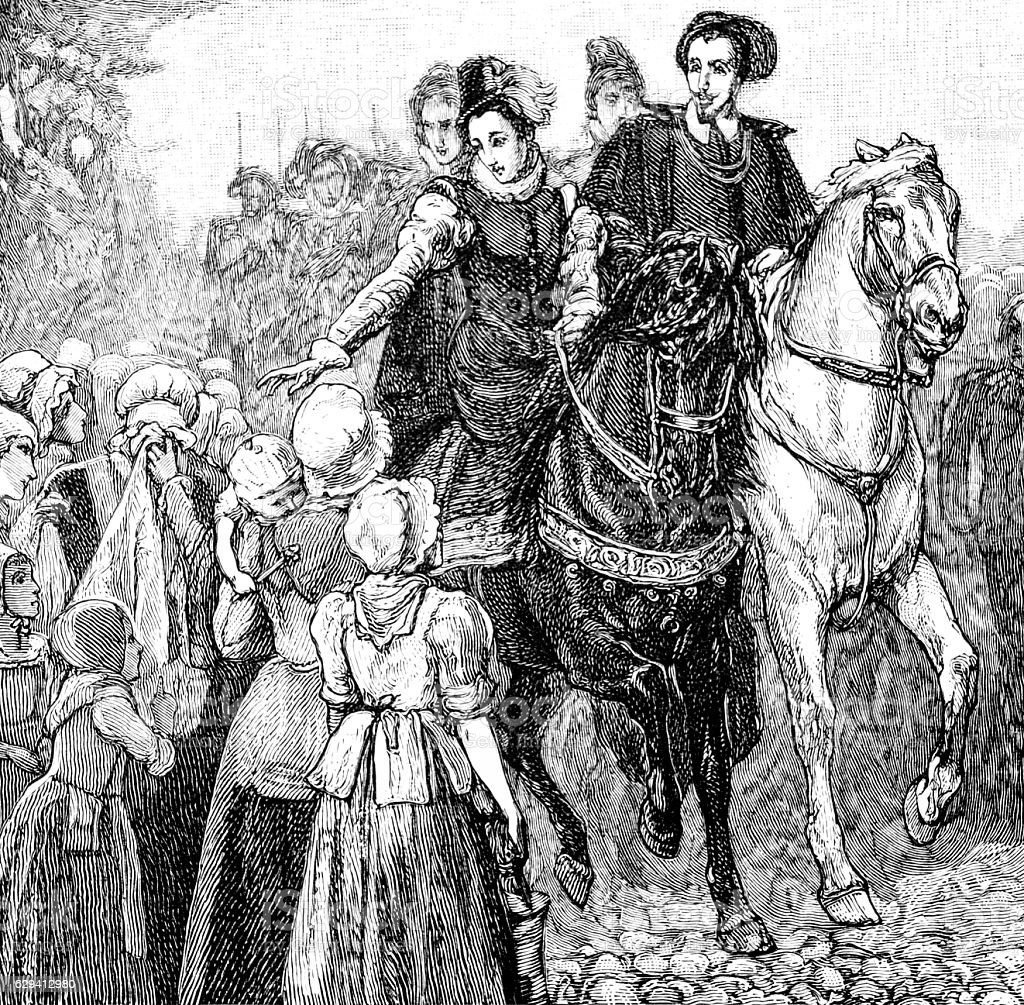 Mary Queen of Scots on Horseback stock photo