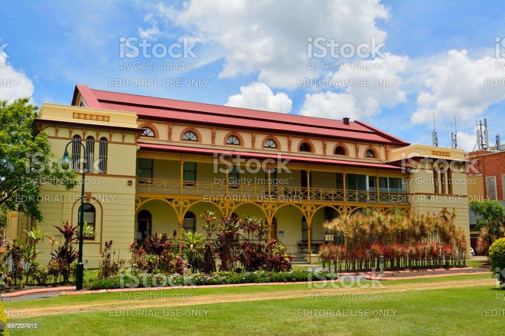 Maryborough Courthouse historic building in Maryborough, QLD stock photo