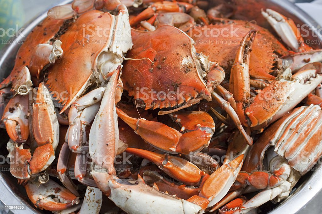 Maryland Blue Crab Boil stock photo