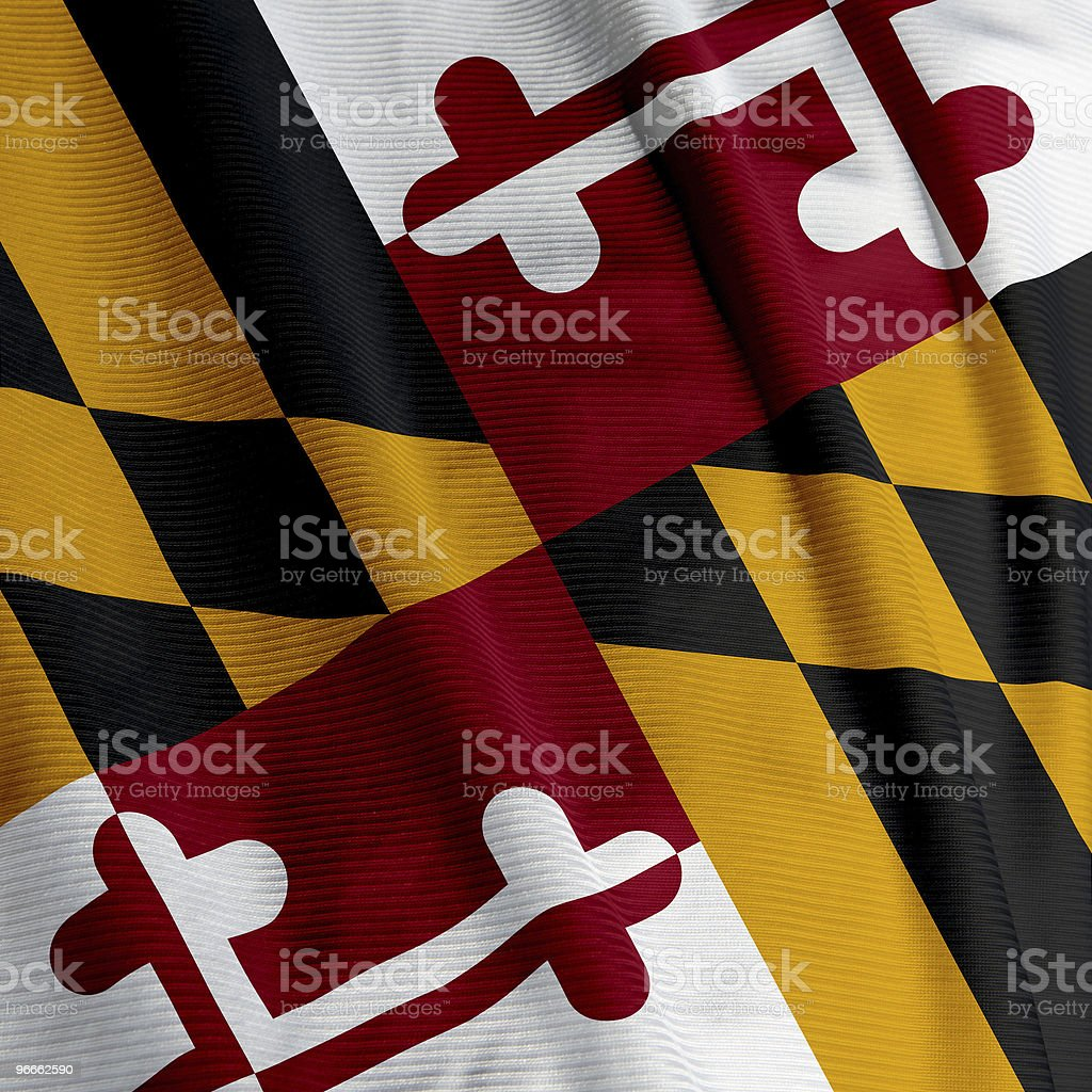 Maryland Flag Closeup stock photo