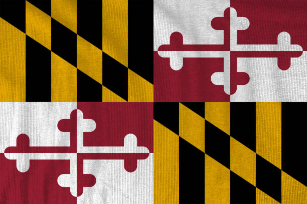 Maryland flag US state flag maryland us state stock pictures, royalty-free photos & images