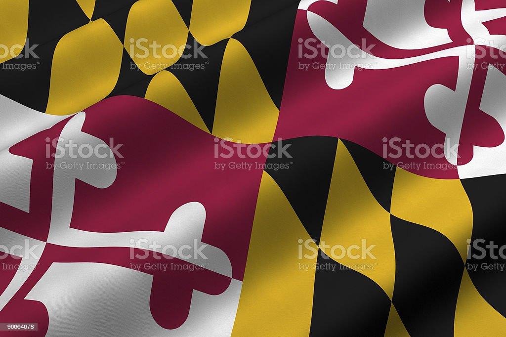 Maryland Flag stock photo