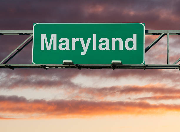 Maryland Sign A Maryland road sign concept. maryland us state stock pictures, royalty-free photos & images