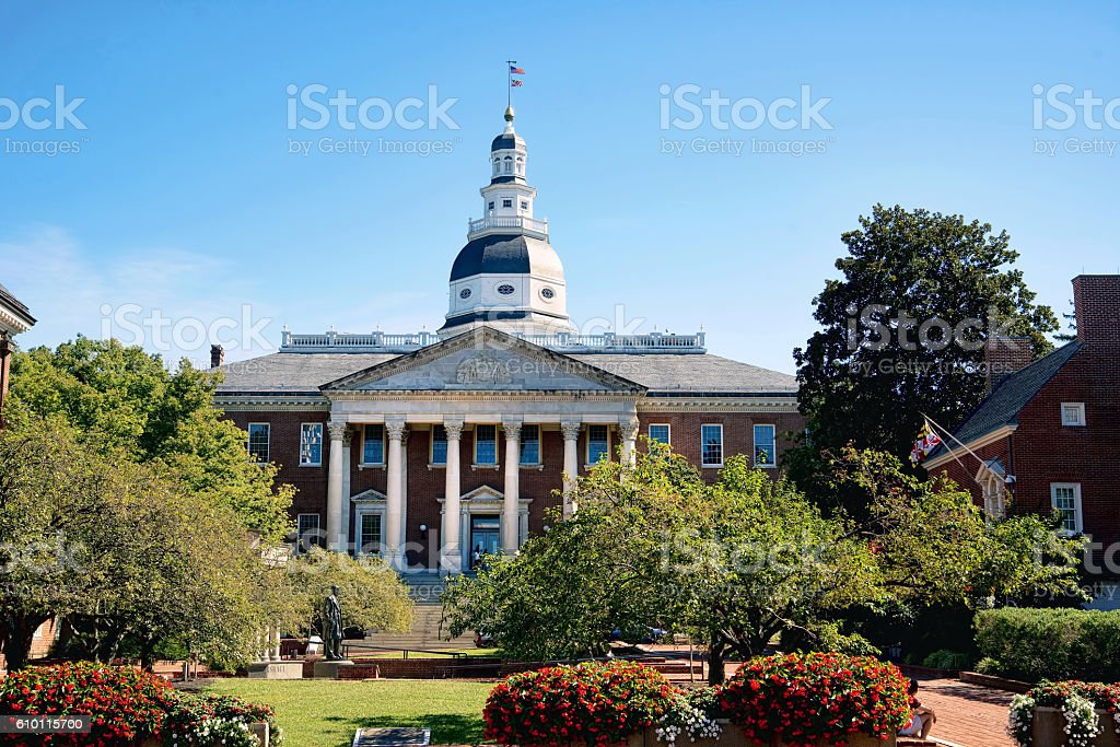Maryland State Capital Building. stock photo