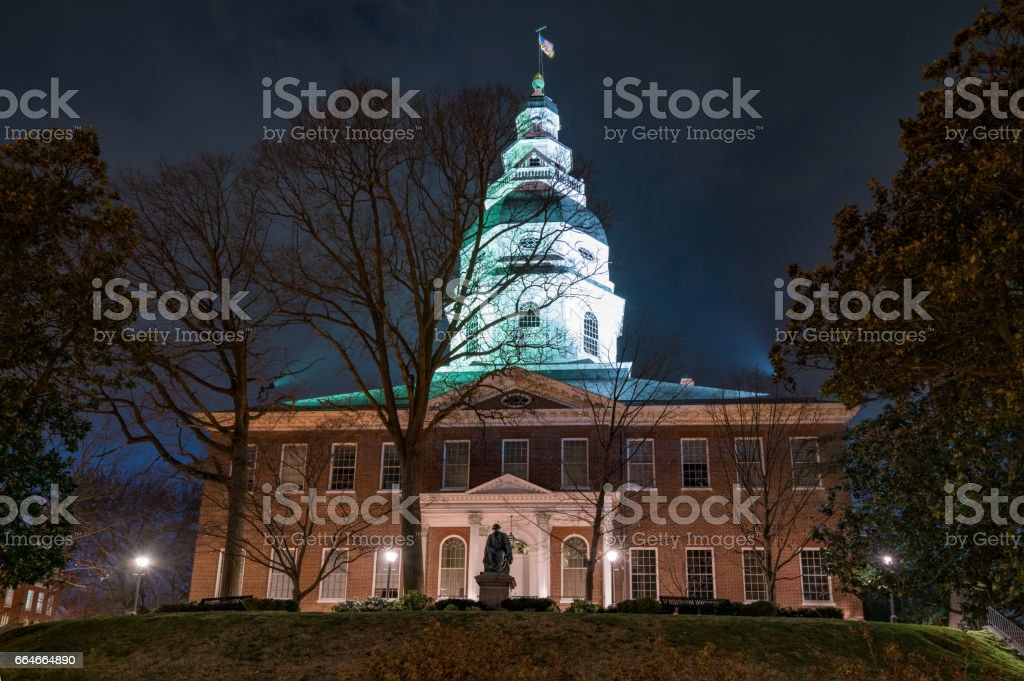 Maryland State Capitol Building in Annapolis, Maryland stock photo