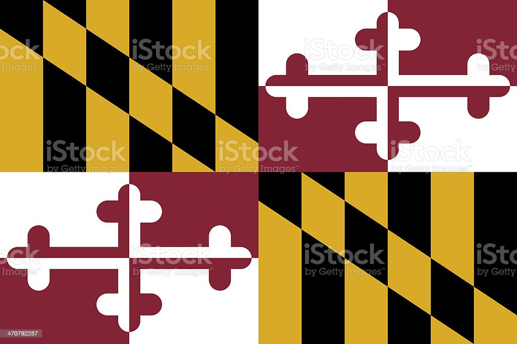 Maryland State Flag stock photo