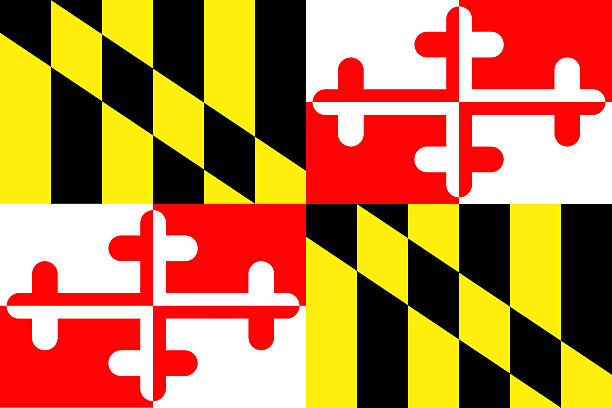 Maryland State Flag A view of the Maryland State Flag maryland us state stock pictures, royalty-free photos & images