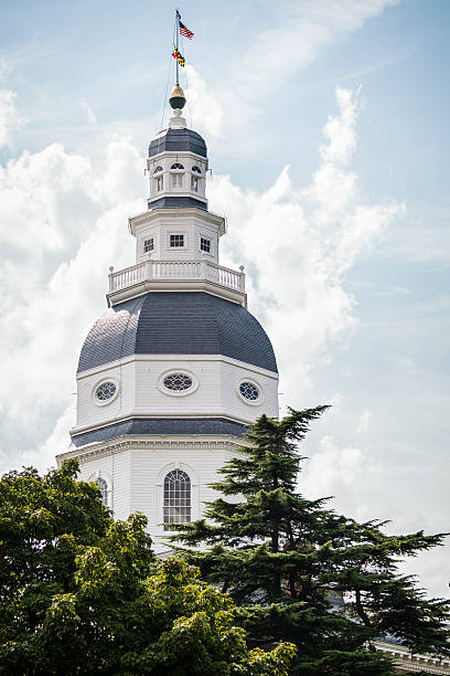 Maryland State House Dome stock photo