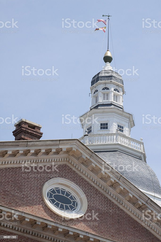Maryland State House in Annapolis royalty-free stock photo