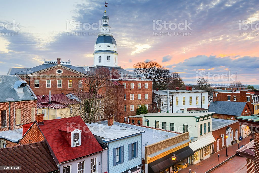 Maryland State House stock photo