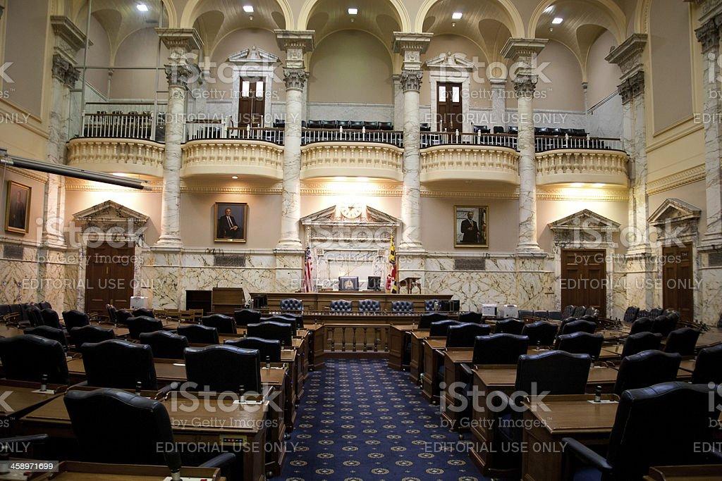 Maryland State House Senate Chambers stock photo