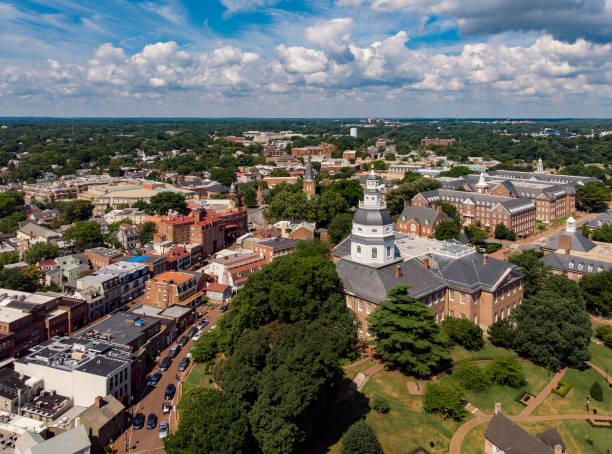Maryland ,Statehouse Aerial stock photo