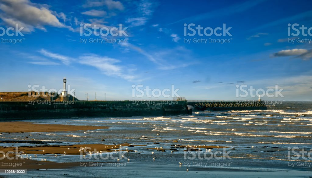 Maryport The small port of Maryport onthe Solway coast on Cumbria in England Coastline Stock Photo