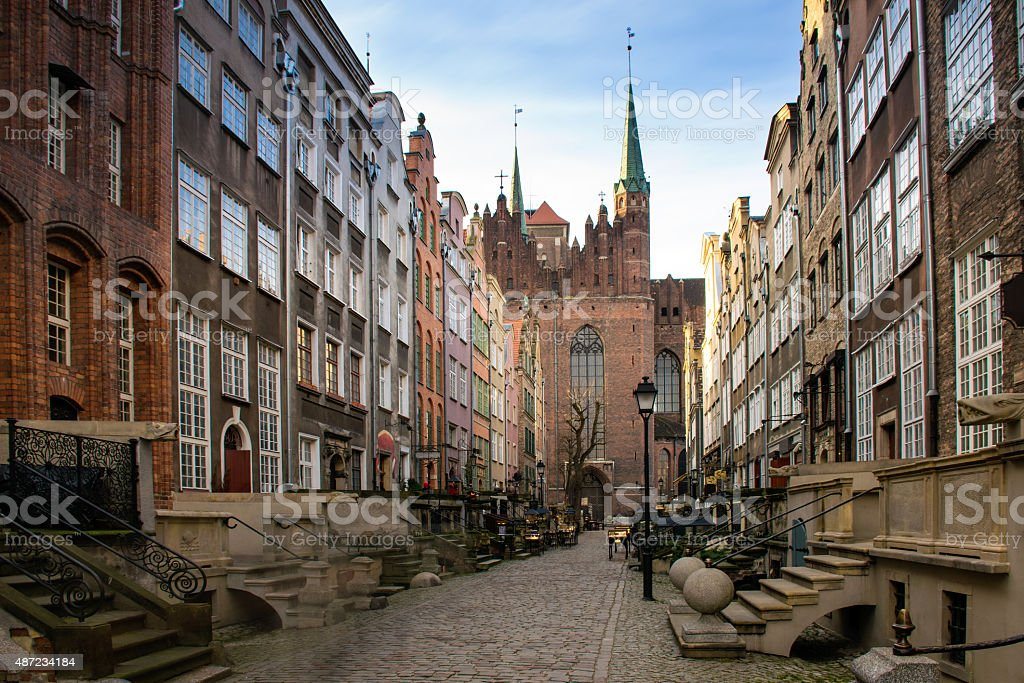 Mary's Street in Gdansk 2 stock photo