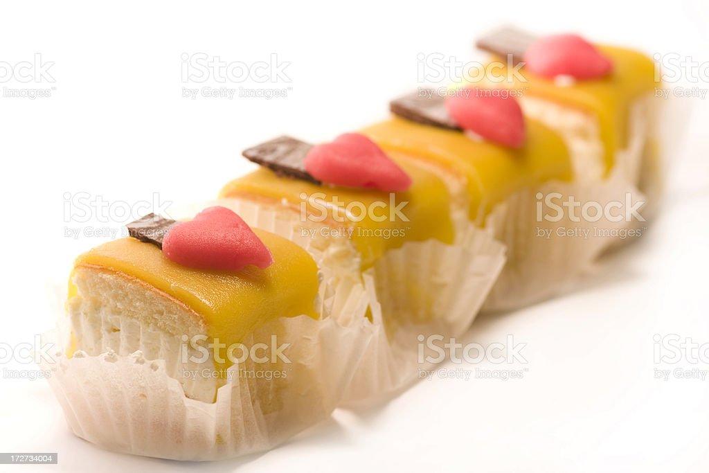 Marzipan cakes royalty-free stock photo