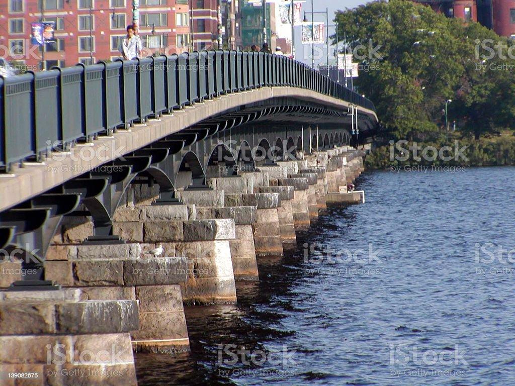 Masachusetts Ave. Bridge, Boston, MA royalty-free stock photo