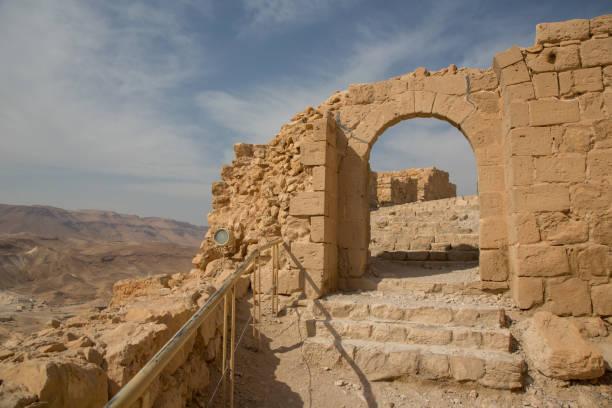 Masada mountain stock photo