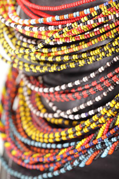 Masai Beads stock photo