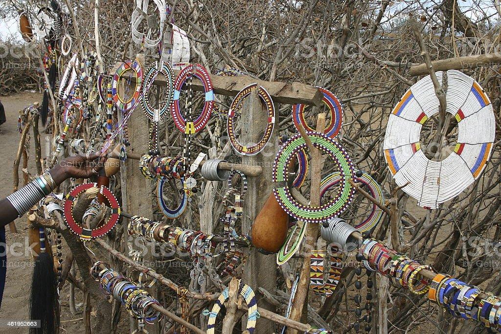 Masai, Massai Fashion, Jewellery and Seed Beads, Tanzania, Africa stock photo