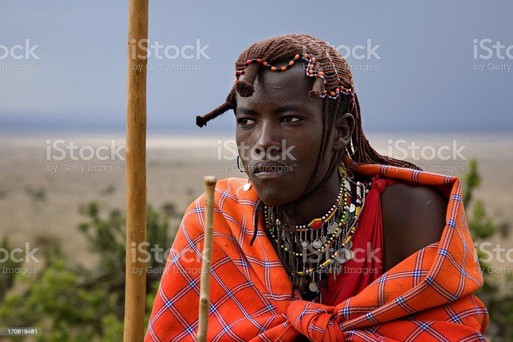 Masai Warrior stock photo