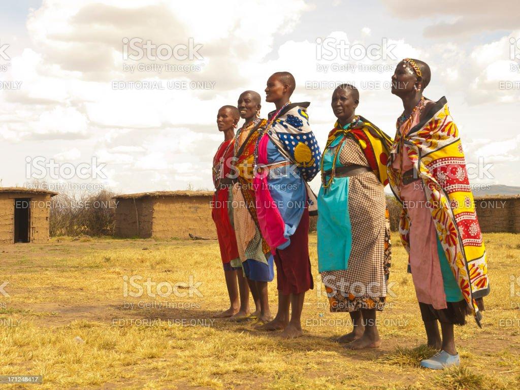 Masai women royalty-free stock photo