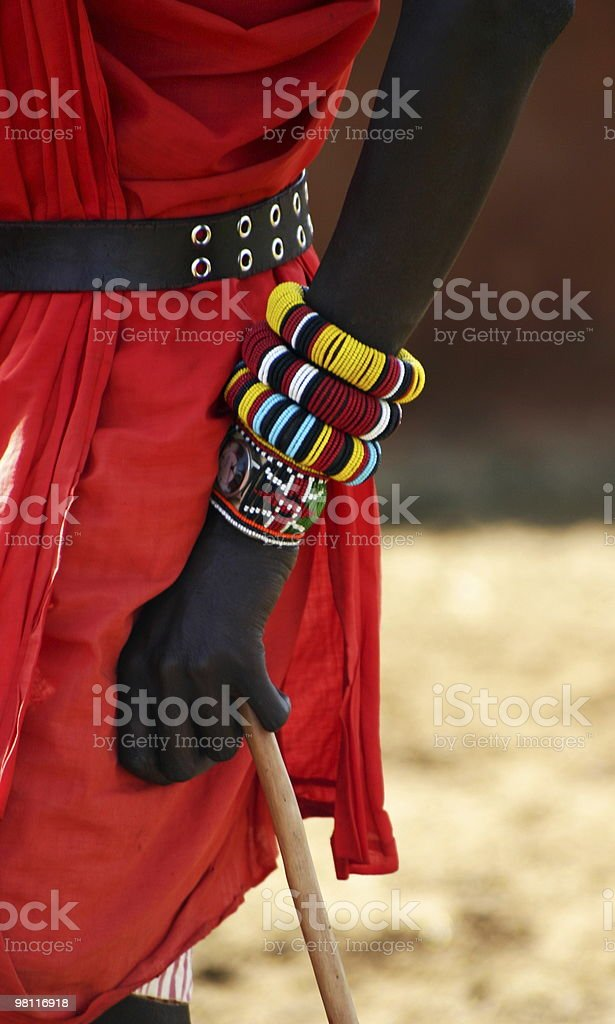 masai's bracelets royalty-free stock photo