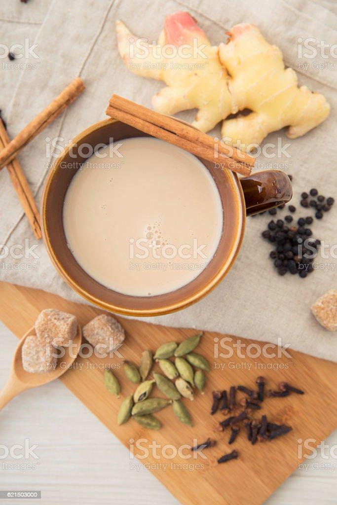 Masala chai tea  Lizenzfreies stock-foto