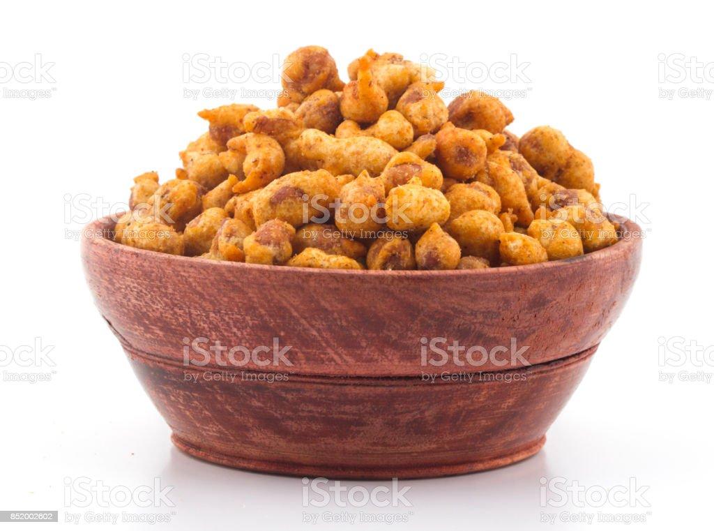 Masala Peanuts stock photo